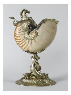 Posters, Art Prints, Framed Art, and Wall Art Collection Art Nouveau, Shell Decorations, Nautilus Shell, Renaissance, Seashell Art, Grand Palais, Ornaments Design, Objet D'art, Art Object