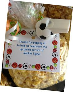 sports-theme baby shower favor