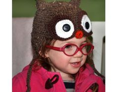 Toddler Owl Hat Pattern (Crochet)