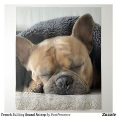 French Bulldog Sound Asleep Tapestry