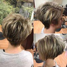 Hair Beauty - Layered-Pixie-Bob-Haircut Best Pixie Haircuts for Over 50 2018 – 2019 Pixie Bob Haircut, Best Short Haircuts, Pixie Haircuts, Short Stacked Haircuts, Short Pixie Bob, Short Stacked Bobs, Short Bobs, Haircut Short, Bob Hairstyles For Fine Hair