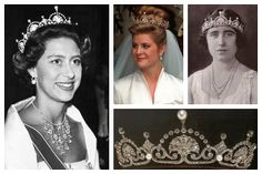 Queen Elizabeth Tiara Collection | ... , Viscountess Linley; Queen Elizabeth the Queen Mother; tiara detail