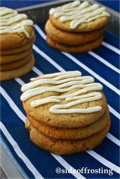 Ginger and maple goodness!! Super soft spiced cookies with maple frosting.