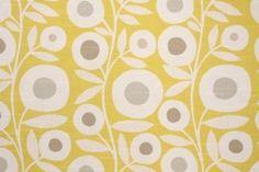 Richloom Ingrid Slubbed Cotton Drapery Fabric in Citrus $10.95 per yard