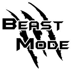 Gym Motivation Quotes, Gym Quote, Car Decals, Vinyl Decals, Window Decals For Trucks, Beast Mode Shirt, Beast Mode On, Beast Logo, Bike Stickers