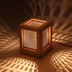 Winzor Collection Beautiful Wooden Box Antique Desk Edison Bulb Lamp
