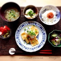 朝ごはん。 B12 Foods, I Want Food, Ramen, Exotic Food, Big Meals, Japanese Food, Japanese Recipes, Clean Recipes, Food Design