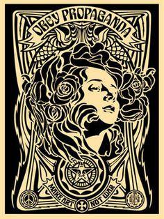 ☯☮ॐ American Hippie Psychedelic Art ~ OBEY Shepard Fairey street artist . revolution OBEY style, street graffiti, illustration and design posters ~ Propaganda_Make Art Not War Art And Illustration, Illustrations, Yarn Bombing, Art Pop, Psychedelic Art, Art Obey, Shepard Fairey Art, Shepard Fairy, Art Nouveau