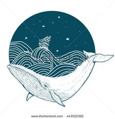 stock-vector-whale-under-water-tattoo-art-whale-in-the-sea-graphic-style-vector-443522392.jpg (450×470)