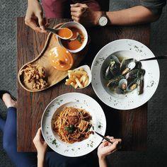 Early sneak peek into Seaphoria's kitchen opening soon at HR Muhammad guys  #inijiegram #food #TableToTable #kuliner #culinary #flatlays