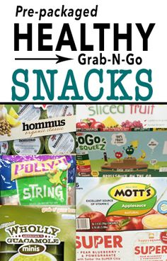 21 Day Fix compatible EASY Clean Eating & HEALTHY Pre-packaged Grab-N-Go snacks.