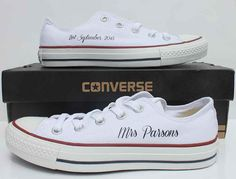 Wedding Converse With Mrs Parsons And Date Our Custom Are Totally Unique
