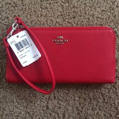 Coach wallet Brand new red leather coach wallet/wristlet Coach Bags Wallets