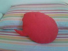 Balloon-shaped pillow made of Alcantara and Cotton wool