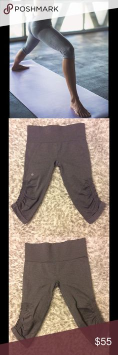 Lululemon  In the Flow Crops I believe these are in the flow crops.  Size 8 with tag intact. Excellent condition. Slight black accents in the gather part. lululemon athletica Pants
