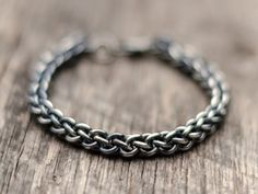 Men's Bracelet Jens Pinds Linkage Chainmaille by AhimsaDesigns