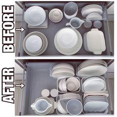 すぐマネしたくなる!シンク下の収納のお手本10選 | RoomClip mag | 暮らしとインテリアのwebマガジン Kitchen Bar Counter, Kitchen Pantry Storage, Diy Kitchen, Kitchen Interior, Kitchen Design, Muji Storage, Dish Storage, Fridge Organization, Kitchen Organisation
