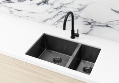 Kitchen Sink - Double Bowl 860 x 440 - Gunmetal Black You are in the right place about DIY Laundry washer Here we offer you the most beautiful pictures about the DIY Laundry basket you are looking for Double Bowl Kitchen Sink, Round Kitchen, Kitchen Ideas, Kitchen Decor, Navy Kitchen, Kitchen Designs, Kitchen Mixer Taps, Kitchen Sinks, Kitchen Remodel