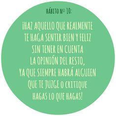 HÁBITO Nº10 Motivation, Live, Healthy, Food, Health, Inspiration