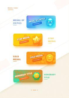 Medal Icon Design on Behance Web Design, Game Ui Design, Graphic Design Tutorials, Graphic Design Inspiration, Icon Design, Wireframe Design, Online Advertising, Social Media Design, App Icon