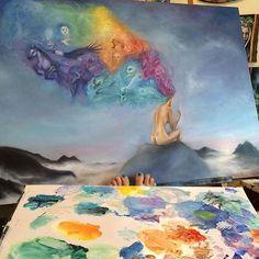 regram Beautiful painting by talented artist _ Kik instartpics Nirvana Art, Spiritual Thoughts, Realistic Paintings, Beautiful Paintings, New Tattoos, Painting & Drawing, Mandala, Watercolor, Drawings