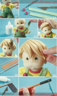 Fondant boy figurine tutorial Pinterest ;) | https://pinterest.com/cocinadosiempre/