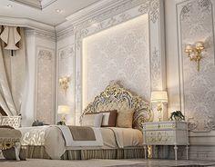 Master Bedroom Design , Private Villa Doha Qatar