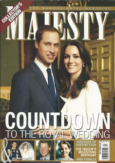 Majesty magazine Kate Middleton Prince William Dresses of distinction The Queen