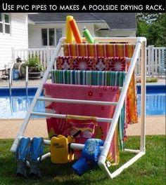 DIY towel drying rack