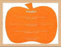Little Ones Learning: Pumpkin Poems