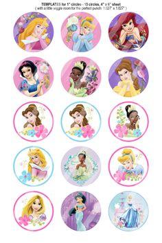 151 Digital Disney Princess Circles Bottle by BeautifulDigitals, $1.50
