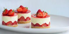 Strawberry and elderflower fraisiers