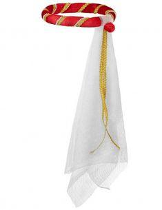 Diadema medieval roja niña-1