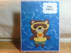 Pool party with teddy bear parade