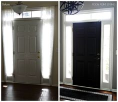 Flat Doors Painted Interior Doors Painting Flat White inside Paint For Doors Interior - Inspiration for Your HOME! Painted Interior Doors, Black Interior Doors, Painted Front Doors, Interior Paint, Interior Design, Nordic Interior, Black Doors, Modern Interior, Cool House Designs