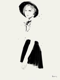 Fashion illustration - chic fashion drawing // Floyd Grey