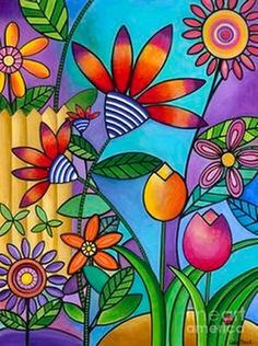 Cuadros Modernos Pinturas : Serie de Flores Grandes Formatos En Cuadros Pintad...