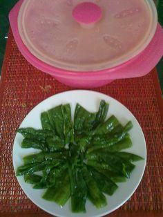 En solo 3 minutos se hacen estos #pimientos en el papillote y con solo 1 ct. de aceite. #recetaentulinea para #perderpeso