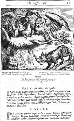 10. De vulpe et aquila (1687), illustrated by Francis Barlow