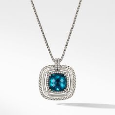 01ad5dace2a Châtelaine Pave Bezel Necklace with Hampton Blue Topaz and Diamonds