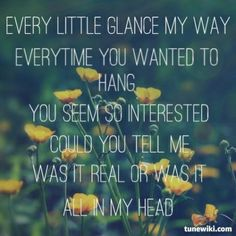 Tori Kelly, All in My Head, lyrics