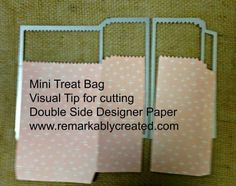 Mini Treat Bag from Stampin' UP! favorite new framellit - absolutely in love! #2015stampinup #stampinup #remarkablycreated