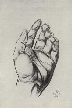 Drawing hands - Kuzma Petrov-Vodkin