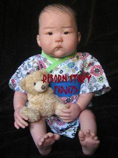 Dolls  asie | BEBE REBORN ASIATIQUE NAOKI issu du sculpt de Ping Lau (kit Anming ...