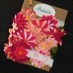 Felt flower garland by AidiesHideaway on Etsy.