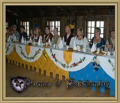 too much sewing?  :D  - - Medieval Wedding Decorations | Medieval Party Deco