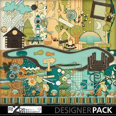 Enjoy these high quality designs by #Fit2beScrapped @MyMemoreis.com #DIgital #Creative #scrapbook #Craft #Campimg_At_The_Lake
