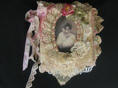 One of a Kind Shabby Chic Mixed Media Collage Book by KISoriginals, $229.00