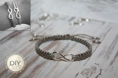 DIY Armband mit Unendlichkeitssymbol Just create your own DIY bracelet with infinity symbol. Simple instructions for DIY DIY infinity bracelet to make yourself! Jewelry Tree, Beaded Jewelry, Fine Jewelry, Women Jewelry, Fashion Jewelry, Diy Jewelry To Sell, Jewelry Crafts, Jewelry Making, Diy Schmuck