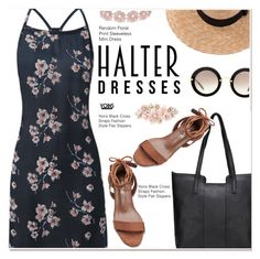 """Shoulder Show: Halter Dresses 2"" by paculi ❤ liked on Polyvore featuring Brixton, Miu Miu, BaubleBar, Accessorize and halterdresses"